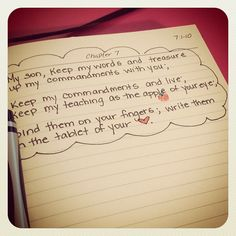 I love writing on the tablet of my heart. Photo by granolamom4god