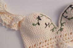Fabulous Crochet a Little Black Crochet Dress Ideas. Georgeous Crochet a Little Black Crochet Dress Ideas. Mode Crochet, Crochet Bra, Crochet Woman, Crochet Crafts, Crochet Clothes, Crochet Projects, Crochet Shorts, Crochet Dresses, Crotchet
