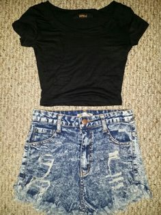 High waisted acid jeans with cute crop to available at www.simplymefashion.com
