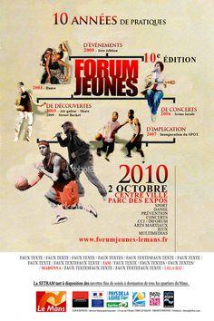 Création d'affiche - Recherche de visuel FORUM JEUNES 2010