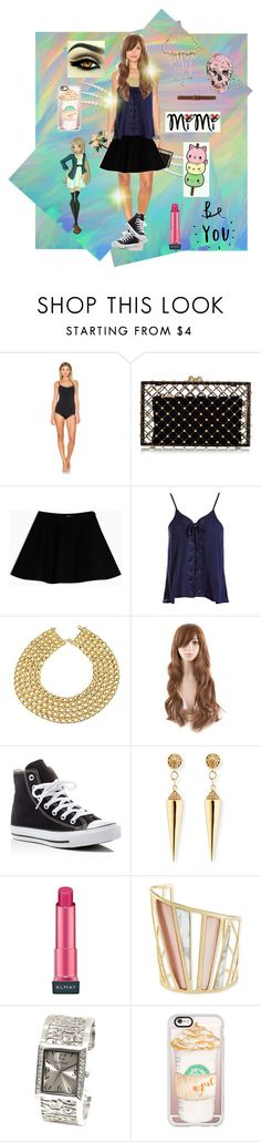 """""""Untitled #392"""" by alinaa191 ❤ liked on Polyvore featuring Calvin Klein Underwear, Charlotte Olympia, Max&Co., Sans Souci, Chanel, Converse, Sydney Evan, Almay, Alexis Bittar and Ellen Tracy"""