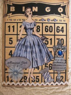 Altered Book Cover . . . . . Now to find a vintage Bingo card!