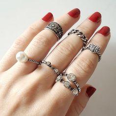 Conjunto de anéis + anéis de falange = combinação incrível! Garanta os seus em www.canelaacessorios.com.br. #canelaaacessorios #acessorios #acessories #online