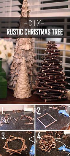 32 Creative DIY Christmas Tree Ideas for a Unique Holiday Season Twiggy DIY Rustic Christmas Tree Diy Christmas Ornaments, Homemade Christmas, Christmas Holidays, Christmas Manger, Christmas Projects, Holiday Crafts, Holiday Ideas, Christmas Ideas, Navidad Diy
