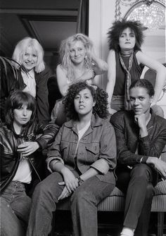Clockwise (left to right) Blondie Viv Albertine of the Slits Siouxsie, Chrissy Hynde of the Pretenders, Poly Styrene and Pauline Black from Selector London in August 1980
