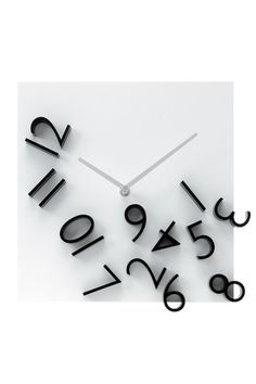 Karlsson - Products Wall clock Falling Numbers black white dial 30 x 30 x Excl. Wall Clock Black And White, Black White, Depot Design, Time Inc, Cool Clocks, Alzheimer's And Dementia, Digital Clocks, Decoration Design