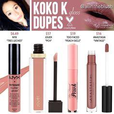 (@allintheblush) on Instagram: KOKO K DUPES from Kylie Cosmetics
