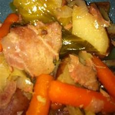 Slow Cooker New England Boiled Dinner http://allrecipes.com/recipe/slow-cooker-new-england-boiled-dinner/