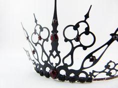 Red Gothique - Black Filigree Gothic Tiara Evil Queen Crown Evil Queen Tiara Red…