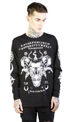Ouija Long Sleeve T-Shirt #disturbiaclothing disturbia disturbia black occult goth grunge pentagram alternative