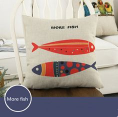 Find More Pillow Case Information about More Fish Pattern Fashion Linen Cushion Cover Home Decorative  Pillowcase Bedroom Pillowcover 45*45cm,High Quality sofa cushion,China sofa cushion pattern Suppliers, Cheap sofa china from Winne on Aliexpress.com