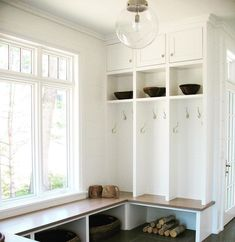"""Marybeth Woods Architect on Instagram: """"Get organized for the new year with built-ins #mudroom #marybethwoodsarchitect"""" Built Ins, Mudroom, Getting Organized, Woods, Organization, Storage, Furniture, Instagram, Home Decor"""