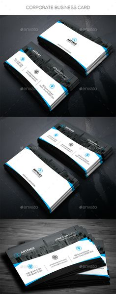 #Corporate #Business Card - Corporate Business #Cards Download here: https://graphicriver.net/item/corporate-business-card/17365617? Download here: