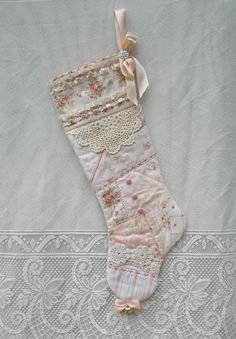 Quilted Pink Patchwork Victorian Christmas by paintedquilts, $49.95