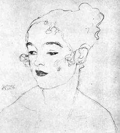 Gustav Klimt Gustav Klimt, Klimt Art, Portraits, Portrait Art, Figure Drawing, Painting & Drawing, Dancing Drawings, Art Nouveau, Gravure