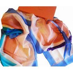 seda pintada a mano del mismo pez , en abstracto.