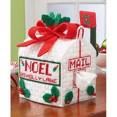 Craftways® Holly Lane Mailbox Tissue Box Cover Plastic Canvas Kit Was: $18.00                     Now: $14.99
