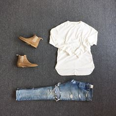 Cool Summer Outfits for Men's - Fazhion Casual Wear, Casual Outfits, Fashion Outfits, Fashion Tips, Men's Outfits, Chelsea Boots Outfit, Mens Chelsea Boots, Urban Fashion, Mens Fashion