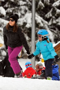MYROYALS &HOLLYWOOD FASHİON - Crown Prince Frederik, Crown Princess Mary and their children posed for the media during their ski holiday in Verbier.