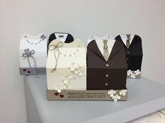 stampin up anleitungen schachtel | ... zeigen, was ich aus der Thinlits-Form Leckereien-Box gemacht habe Bridal Shower Favors, Wedding Favours, Wedding Gifts, Wedding Boxes, Wedding Cards, Becca Feeken Cards, Milk Carton Crafts, Best Engagement Gifts, Glitter Wine Bottles