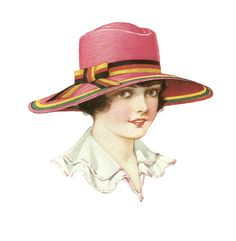 women's fashion hats | Free Fashion Clip Art: Women's Antique Hat Fashion