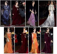 Crown Princess Mary´s style at New Year's levee and banquet in Christian VII's Palace .