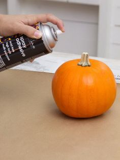 How to Make Glittered Pumpkin Decorations for Halloween