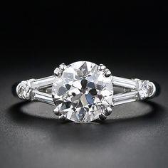Mid-Century 2.01 Carat Diamond Engagement Ring