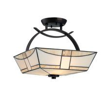 View the Quoizel TFZA1714 3 Light Up Lighting Semi-Flush Mount Fixture from the Zachary Collection at LightingDirect.com.