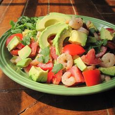 "Avocado-Shrimp Salad | ""Very good ! Adding Cucumbers give it a nice crunch ! I added grape tomatoes and sauteed the pre-cooked shrimp with garlic,lemon a onion a bit before throwing them in."""