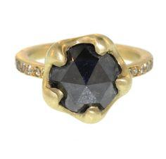 1stdibs   Black Diamond Ring