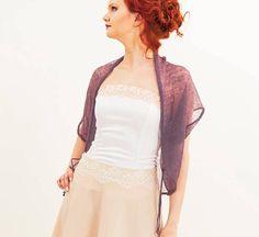 05563c1596e Linen jacket mauve bolero Wedding Bolero Knit Bridesmaid Dress Cover Up  Summer Weddings Boho Cardigan Plus size bolero Wedding wrap top
