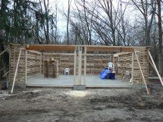 pallet barn under construction