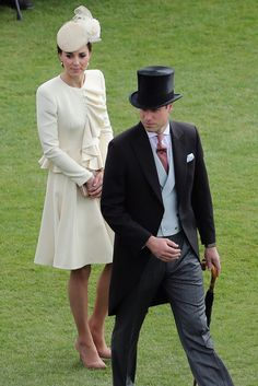 Kate Middleton and Prince William got all dressed up for a Spring garden party.