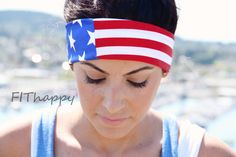 American Flag FitHappy CROSSFIT HERO WOD Classic Headband, Military, Fourth of July, Fitness, Yoga, Stylish Workout Accessory via Etsy