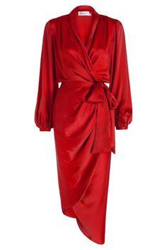 '70s Inspired Dresses Zimmermann Sueded Silk Wrap Robe, $350; zimmermannwear.com