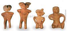 Estatuillas arcaicas de la Cultura Barreal, Museo Inca Huasi, La Rioja. Cultura de la Aguada
