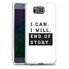I can I will für Silikon Case (weiß) für Samsung Galaxy Alpha von DeinDesign™