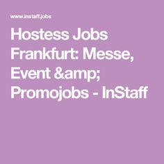 Hostess Jobs Frankfurt Messe Event Promojobs