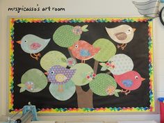 Bulletin Boards to Remember. Cute birds for spring.