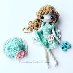 My sassy girl is ready to go out ~ #Amigurumi #pastelcolour #crochethair