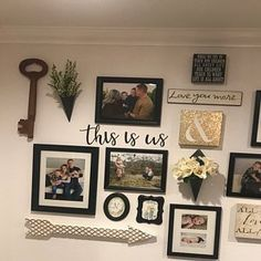 This is us Sign, Metal this is us Sign, Rustic Word Art Sign, Farmhouse Decor, This is Photo Wall Decor, Family Wall Decor, Photo Wall Collage, Family Wall Collage, Hallway Wall Decor, Rustic Living Room Decor, Picture Collages, Wall Decor For Stairway, Decorating Stairway Walls