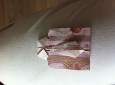 Folding Euro's as a gift in origami shirt!
