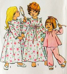 Simplicity 6685 Toddler Robe, Nightgown, Pajamas Sewing Pattern Size 4 (Breast 23) Vintage 1974 Simplicity,http://www.amazon.com/dp/B00FRZT0K4/ref=cm_sw_r_pi_dp_4fmetb0N8KAF5846