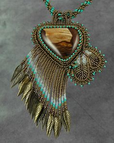 ~~View From The Canyon Necklace ~ Bead artwork by Sue Horine~~