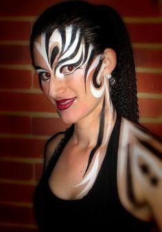 zebra makeup face painting art body paint - pintacaritas ♛