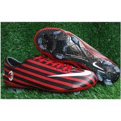http://www.asneakers4u.com Nike Mercurial Vapor VIII World Cup FG Firm Ground AC Milan Zebra Red Black Nike Soccer Boots