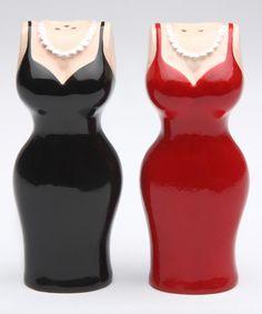 Loving this Red & Black Cuties Dress Salt & Pepper Shaker on #zulily! #zulilyfinds