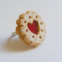 scented jammy dodger ring - miniature food jewellery £9.99