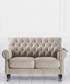 Our exclusive range of made-to-order upholstery includes the classically proportioned Mrs Jones sofa with deep-buttoned back in two and three seat